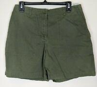 JONES NEW YORK SIGNATURE Women's 100% Cotton Twill Shorts Green Size 10 CHARITY