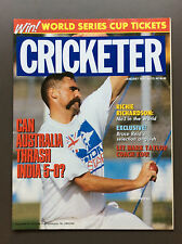 CRICKETER Cricket Magazine Jan 1992 Merv Hughes Cover Michael Bevan Poster