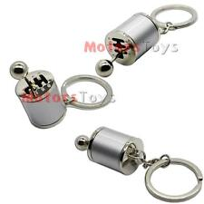 1PC Silver Chrome Finish Gear Box Shifter Key Chain Fob Ring Keychain For Car