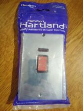 Hartland Bright Chrome Tall Plate Cooker Switch 45A Double Pole Red Rocker
