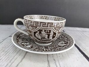 Spode Copeland Greek Brown Cup & Saucer