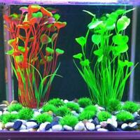 40cm Artificial Simulation Water Plants Aquarium Plant For Fish Tank Grass D5P8