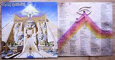 1984 ORIGINAL IRON MAIDEN POWERSLAVE VINYL LP + INNER LYRIC SLEEVE