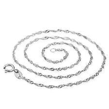 925 Versilberte Halskette Damen Mode Edel Schmuck Elegant für jeden Tag 40 cm