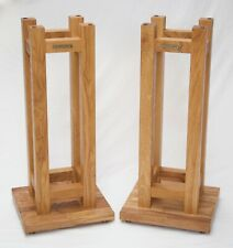 BROADCAST STANDS Bespoke  MK2 Oak Speaker Stands for the BBC CHARTWELL ls3/5a