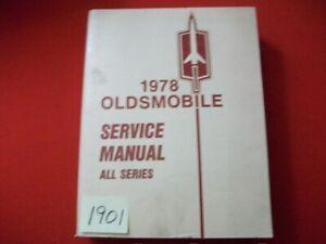 1978 FACTORY OLDSMOBILE SERVICE MANUAL 98 88 STARFIRE TORONADO OMEGA & MORE