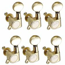 1 set 6L Tuning Pegs Deluxe lefty  Machine Head Tuners Gold for Replacement
