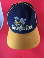 Vintage Embroidered  Logo 1984 Georgia Tech  Yellow Jackets Cap Hat Snapback