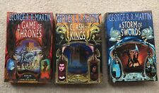 Dual Signed - A Game of Thrones 1st First Edition 3 book set - UK Voyager RARE