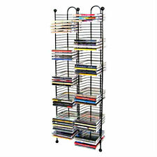 100 CD TOWER STORAGE RACK organizer tall metal wire stand wall shelf disc holder