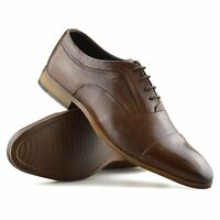 Mens New Leather Smart Casual Lace Up Work Office Formal Dress Oxford Shoes Size