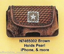 iPhone CASE ~Belt Clip~ Western Tooled Leather- Hair-on