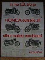 1963 HONDA CA95 CA72 CB77 CL72 CB72 CA77 BROCHURE Dream Super Hawk Scrambler