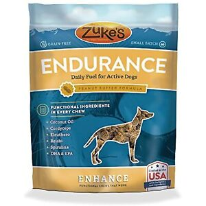 Zuke'S Enhance Endurance Peanut Butter Formula Functional Chews Dog Treats - 5