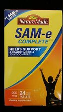 Nature Made SAM-e Complete 200 mg 24 Tablets New