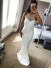 New  Ivory Embellished Bridal Dress Maxi Plus Sizes Womens UK RRP 79.99