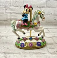 Disney Mickey Carousel Collection Minnie Mouse Horse Figure Jeweled Base Flaw