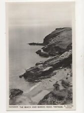 The Beach & Barras Head Tintagel RP Postcard R Youlton 154b