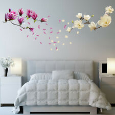 Walplus Wall Sticker Red and White Magnolia Flowers Decals Art Home Decorations