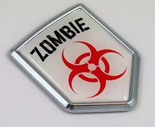 Zombie Decal Car Chrome Emblem Sticker badge sign crest Auto