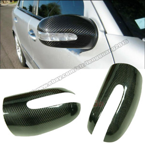For Mercedes Benz S-Class W220 1998-2005 REAL CARBON FIBER MIRROR COVERS CAPS 2x
