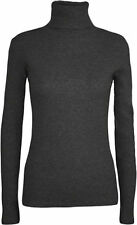 Ladies Long Sleeve Polo Neck Plus Size RollNeck Top Womens Turtle Neck Jumper