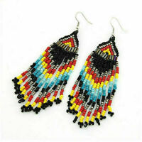 Earrings Bohemian Party Ethnic Tassel Women Jewelry Long Beads Dangle Drop Boho