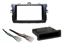 Single Double DIN Stereo Dash Kit Install Harness for 2009-2011 Toyota Corolla