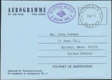 NORFOLK ISLAND, 1970. Official Aerogramme H&G F/DFG1, Used