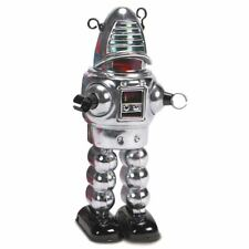 Robby the Robot Tin Replica Chrome Planet Retro Vintage Style Robot - Boxed