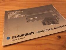 Blaupunkt changeur CD M1 autoradio notice utilisation mode d' emploi