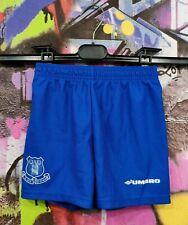 Everton Fc The Blues Football Soccer Training Shorts Vintage Kids Boys 4-5 Years
