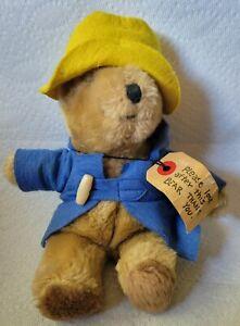 "1975 Eden Paddington Bear Darkest Peru To London England Stuffed Toy 10"""