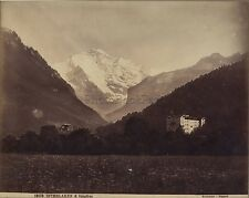 INTERLAKEN & Iungfrau Suisse Photo Sommer Napoli Vintage albumine ca 1880