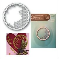 Honeycomb Stitched Circle Frame metal die Memory Box cutting dies 99923 bee