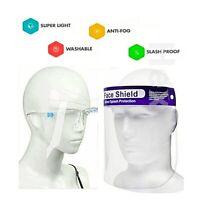 FACE SHIELD WITH GLASSES GLASS VISOR MASK PPE SHIELD TRANSPARENT UK STANDARD