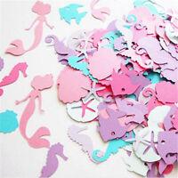 100pcs Mermaid Colorful Table Paper Confetti Birthday Party Decor Under the Sea