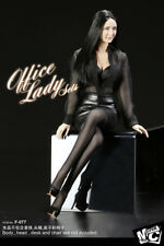 1/6 SUPERMCToys F-077 Office Lady Clothes Black Chiffon Shirt&Tight Skirt Set