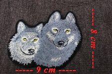 Patch à coudre ou à coller au fer représentant un Loup et une Louve