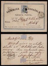Spain 1874 - Postal Stationery to Madrid E364