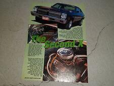 1973 PONTIAC VENTURA article / ad