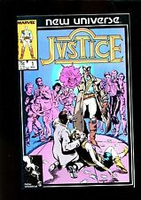JUSTICE 1 (9.8) NEW UNIVERSE MARVEL (b010)