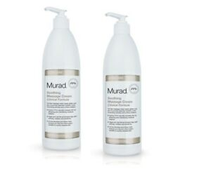 2 x  Murad Soothing Massage Cream Clinical Formula, Pro Size 16.9 oz with Pump
