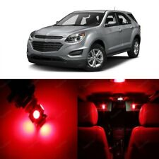 9 x Red LED Interior Light Kit For 2010 - 2017 Chevy Chevrolet Equinox + TOOL