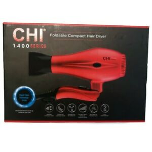 CHI 1400 Series Foldable Compact Hair Dryer Dual Voltage For Worldwide Travel