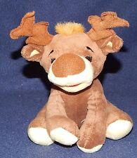 "6"" Old Navy Light Brown Small Plush Moose Reindeer Stuffed Animal 2009"