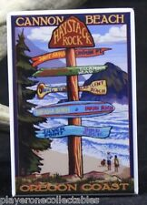 Oregon Coast Cannon Beach Travel Poster - Fridge Magnet. Creative Gift!