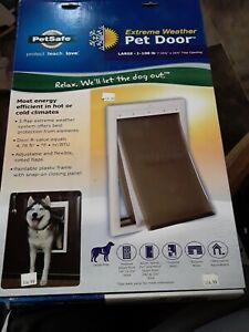 Professional Petsafe Extreme Weather Pet Door - White 1-100 Lbs