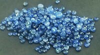 10-Cts Natural Certified Burma Blue Sapphire Round Loose Drilled Beads=2--4 mm .