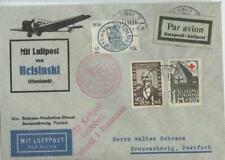 Finland 1931 cover with 3 stamps, airmail HELSINKI to Germany